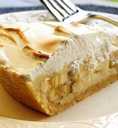 банановый пирог, банановый пирог с творогом и печеньем, пирог, творог, печенье, с творогом и печеньем